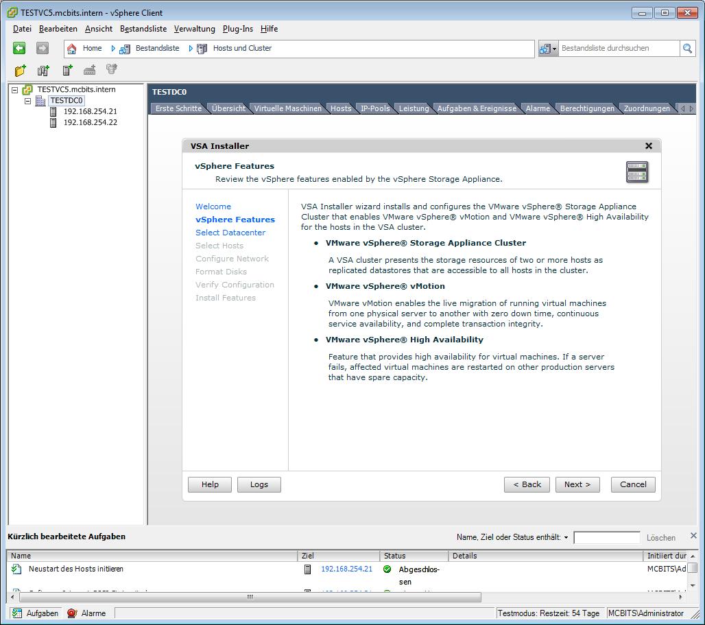 VSA Installer Pre-Instal Blah Blah