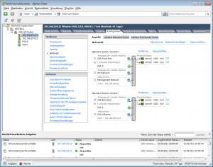 Die automatisch angelegte Netzwerkkonfiguration des VSA Cluster Manager